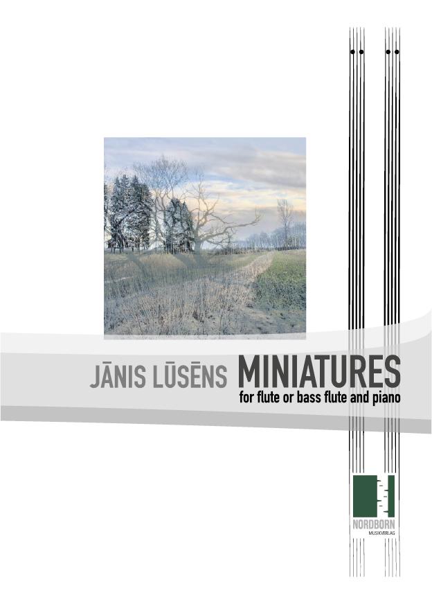 Jānis Lūsēns - Miniatures for flute or bass flute - cover
